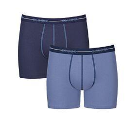 Sloggi Men Boxer Start Short Μπλε-Μπλε Γαλάζιο 2τεμ
