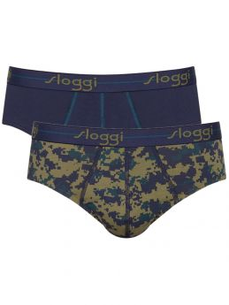 Sloggi Men Slip Start H Midi 2Τεμ Μπλέ-Army