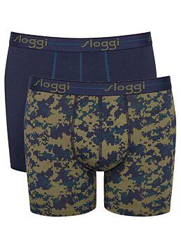 Sloggi Men Boxer Start Short  2τεμ Μπλέ-Army