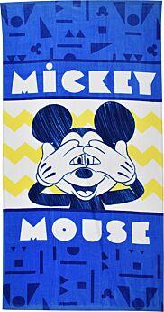 Stamion Πετσέτα Θαλάσσης Mickey Mouse 70*140cm Μπλε-Λευκό