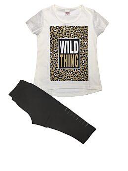 Trax Παιδικό Σέτ Κορίτσι Wild Thing Έκρού-Μαύρο