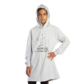 Trax Παιδικό Μπλουζοφόρεμα Κορίτσι Shopping In Fashion Γκρί Μελανζέ