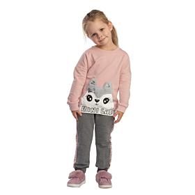 Trax Βρεφική Φόρμα Σετ Κορίτσι Foxy Mini Lady Σπασμένο Ρόζ-Ανθρακί
