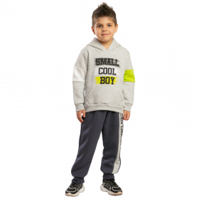 Trax Βρεφική Φόρμα Σετ Αγόρι Small Cool Boy Γκρί Μελανζέ-Ανθρακί