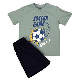Trax Παιδική Πιτζάμα Soccer Game Πράσινο-Μαύρο