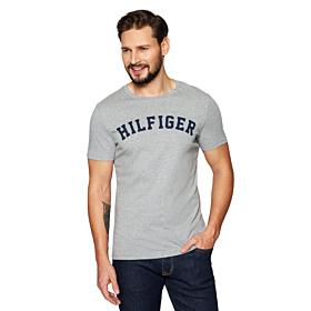 Tommy Hilfiger Logo T-Shirt Organic Cotton Γκρι Μελανζέ