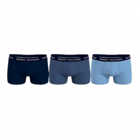 Tommy Hilfiger Essentials Logo Men Boxer 3P Μπλε Μαρίν-Μπλε Ραφ-Σιέλ