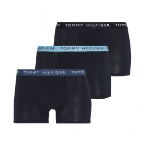 Tommy Hilfiger Essentials Men Boxer 3P Μπλε Μαρίν-Μπλε Ραφ-Σιέλ