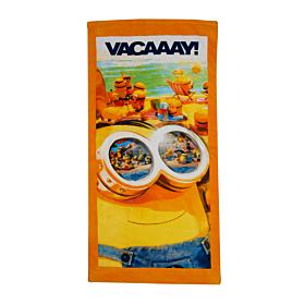 Stamion Πετσέτα Θαλάσσης Minions 70*140cm Πορτοκαλί