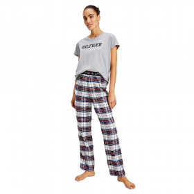Tommy Hilfiger Lounge Organic Cotton T-Shirt Γκρι Μελανζέ